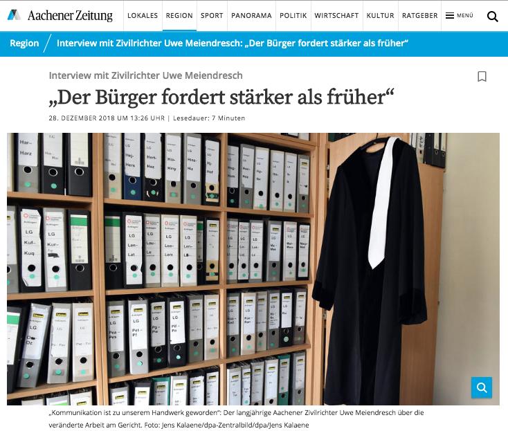 Zeitungsartikel Aachener Zeitung